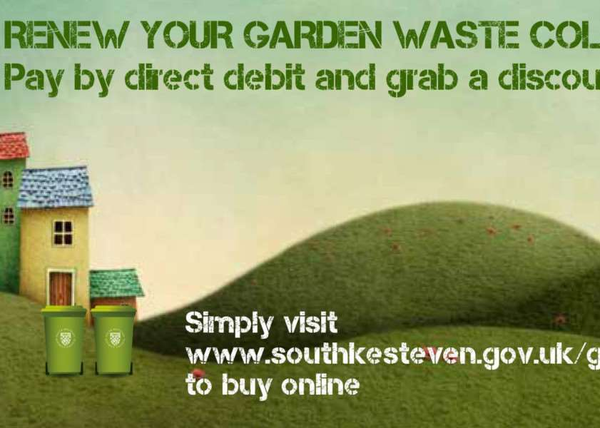 Renew your garden waste collection service by March 10, says SKDC.