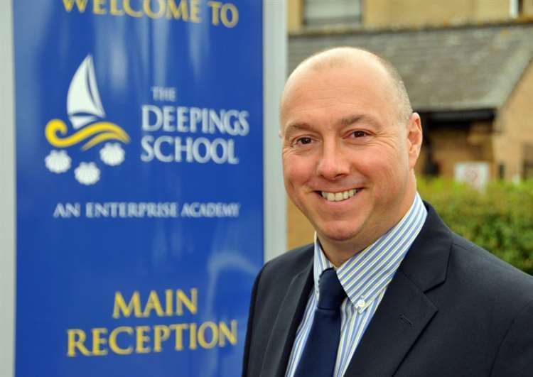 The Deepings School headteacher Richard Lord said he was 'delighted' with some aspects of the latest Ofsted report