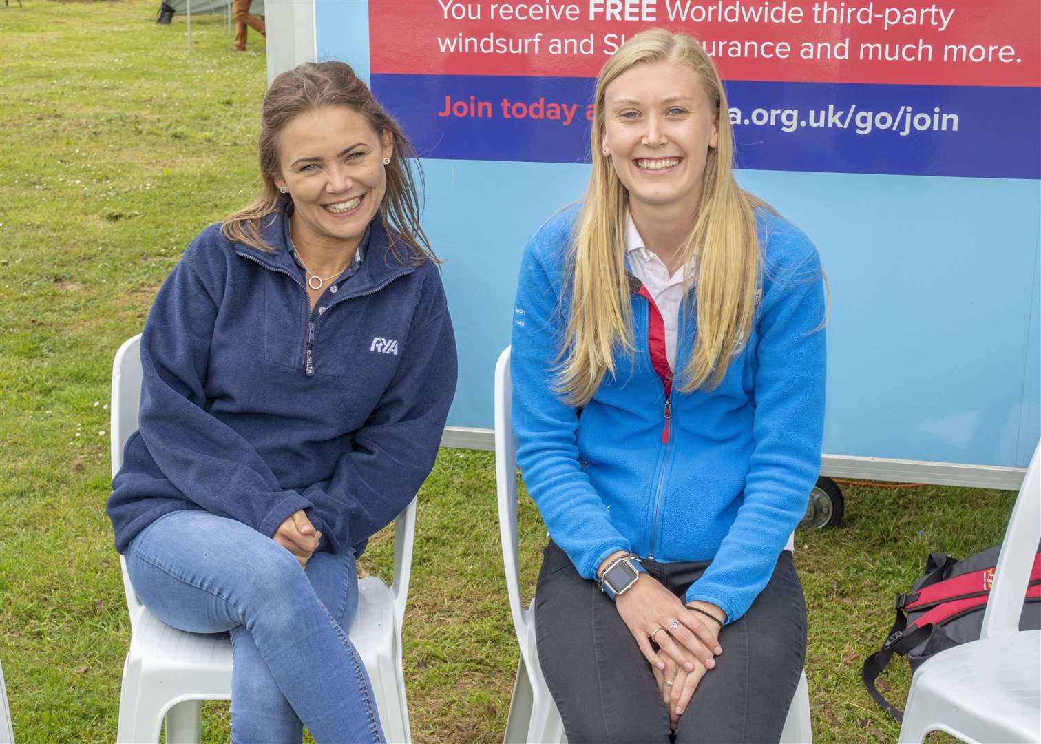 Jessica Lawler and Mollie Knowlden from RYA Photo: Lee Hellwing