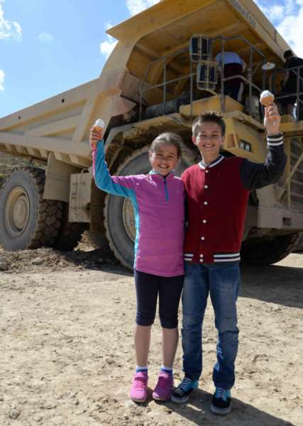 Open day at Hanson Cement in Ketton. Olivia and Jenson Lewis. Photo: Alan Walters MSMP-06-06-15-aw006 EMN-150806-101836001