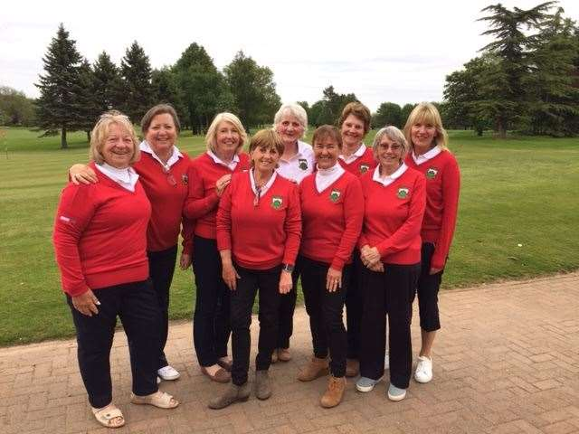 Burghley Park's Ladies' B team who drew with Kirton Holme in the Lincolnshire League. (10875162)