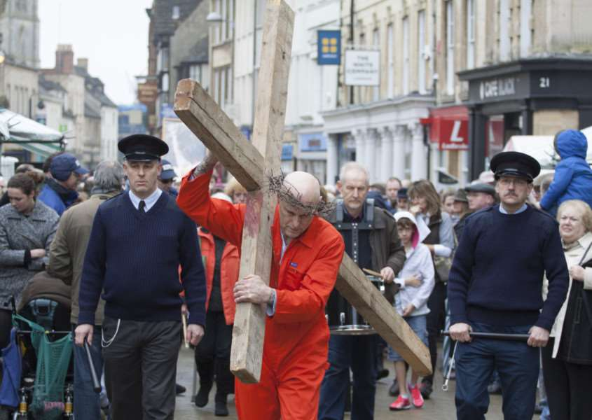 The Walk of Witness in Stamford, Good Friday 2015. Photo: Lee Hellwing MSMP-03-04-15-lh011 EMN-150304-145641001