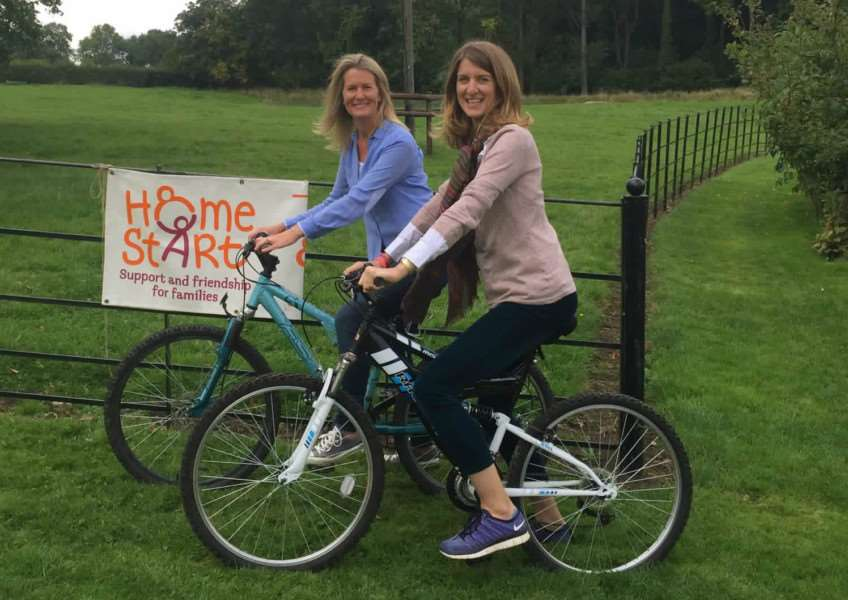 Sophie Weatherby and Miranda Rock have organised a bike ride around Rutland Water for Home-Start. EMN-150923-111735001