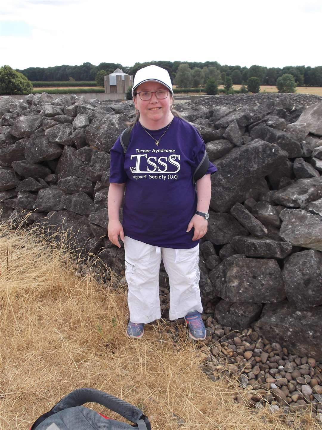 Tammy Richards walked around Rutland Water for charity