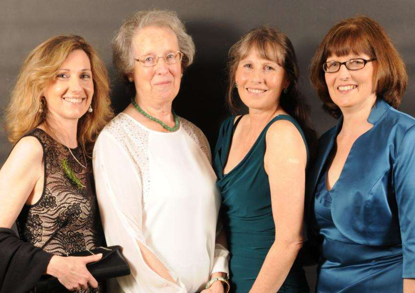 Evergreen Care Trust founder Louise Marsh with guests at the charity's fundraising ball, October 2015. EMN-150411-110719001