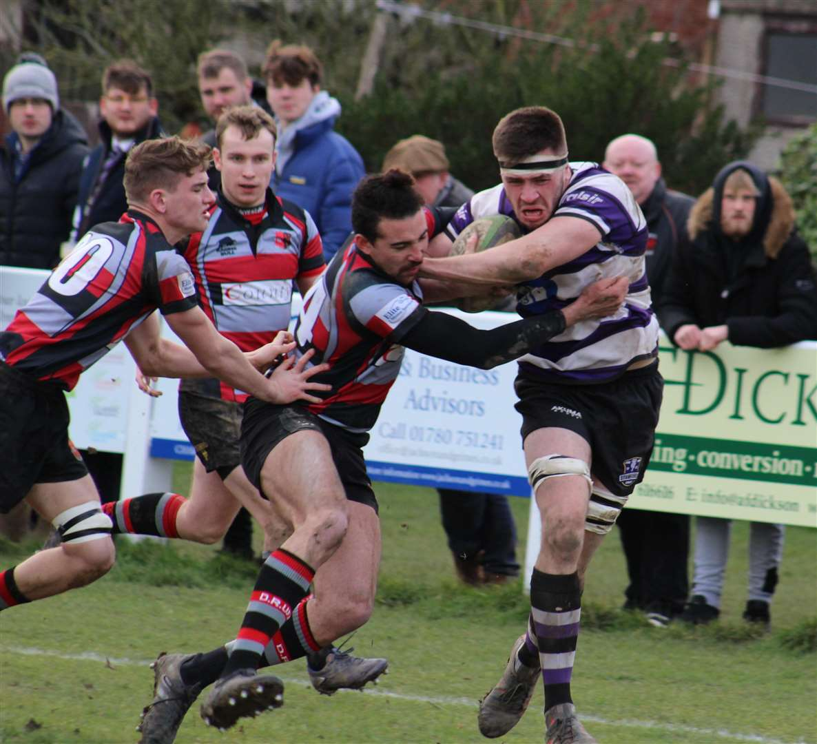 Match action from Stamford's victory over Dunstablians on Saturday. Photo: Darren Dolby (6800353)