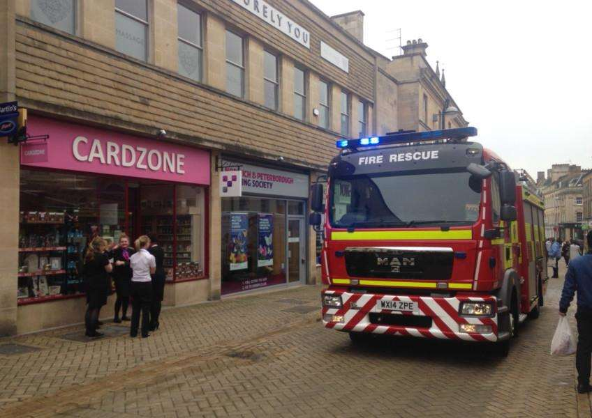 Fire crews responding to alarms sounding in Stamford following a major power cut