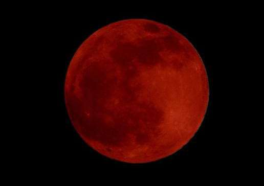 A rare 'blood moon' will be visible in the sky in the early hours of Monday 28th September