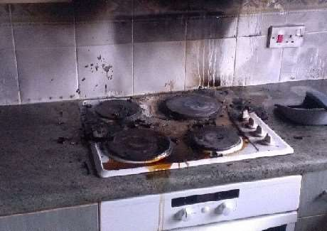 Kitchen fires in Holbeach and Langtoft on Wednesday were both caused by cooking left unattended.