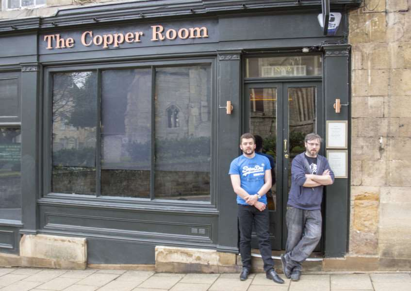 Rob Savill and Liam Kavanagh at their new venture Copper Room which has opened in St Mary's Hill, Stamford'Photo: Lee Hellwing