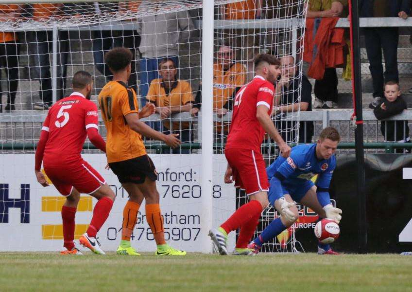 Action from Stamford AFC v Wolverhampton Wanderers in pre-season. Photo: Geoff Atton EMN-160408-103904001