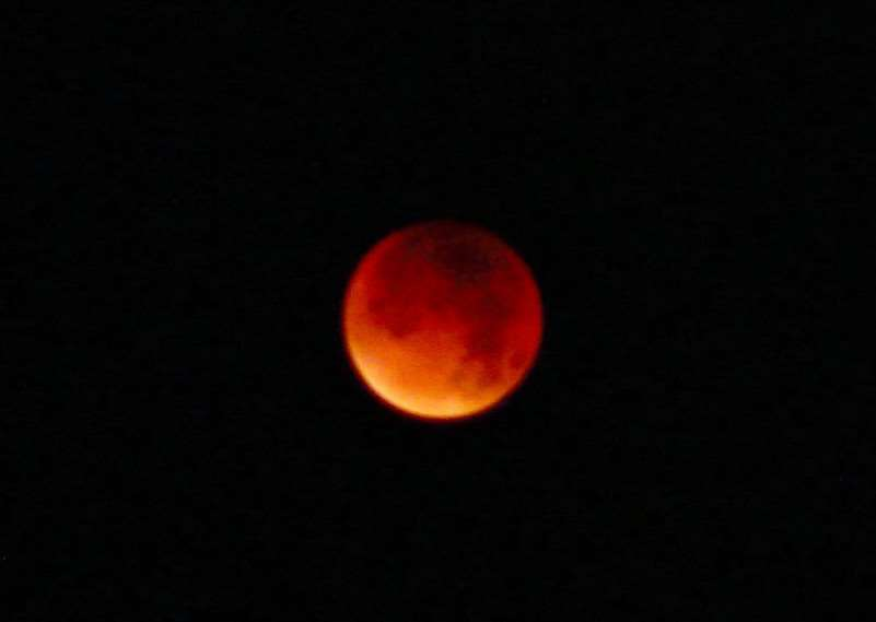 David Hancock took this photo of the Super Blood Moon near Spalding