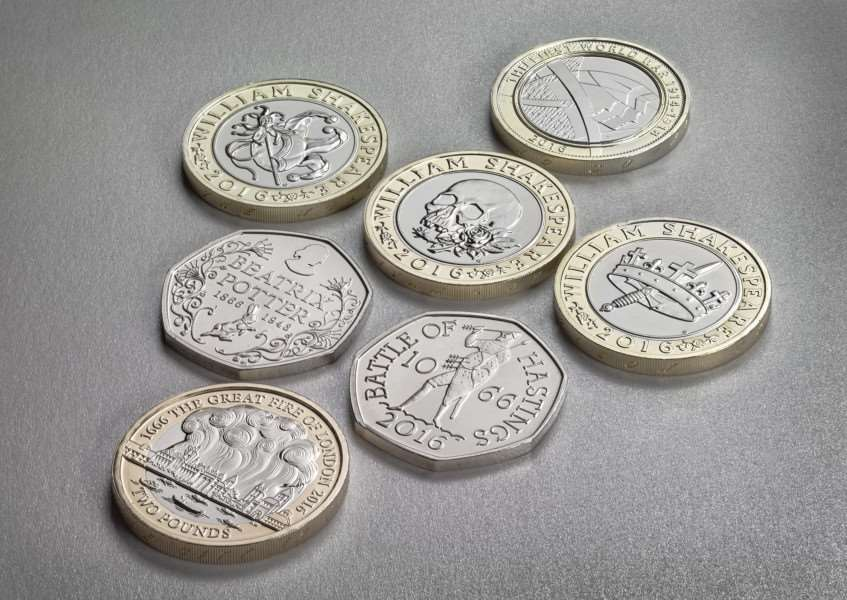 New 2016 commemorative coins which are being launched by the Royal Mint