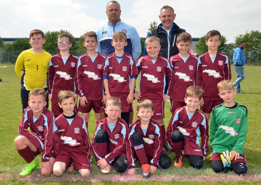 Bourne Town Clarets under-9s A and B teams