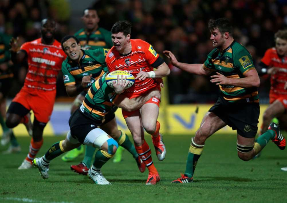 Northampton Saints v Leicester Tigers. Photo: PA/Wire EMN-141222-123306001