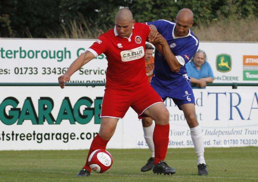 Stamford AFC v Ramsbottom United. Photo: Geoff Atton EMN-150921-122201001