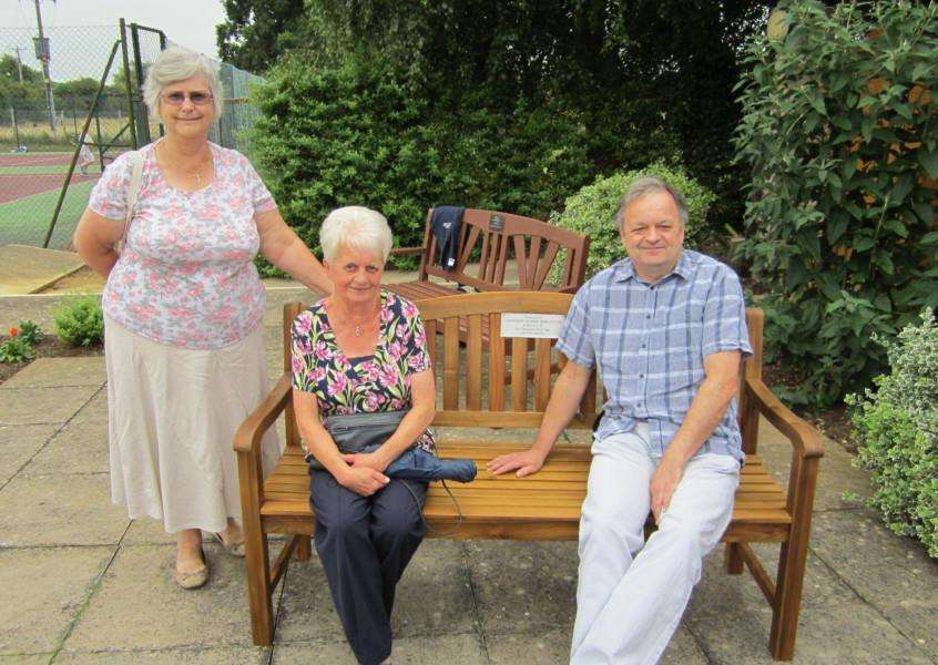 A presentation was made by Casterton Indoor Bowls Club to Ryhall Bowls Club of a bench in memory of David Page, who was chairman of Casterton Bowls Club and also a playing member of Ryhall Bowls Club. EMN-150723-103828001