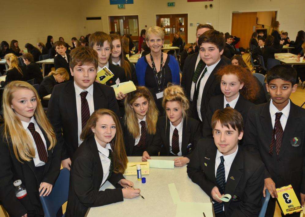 Students and staff at the Stamford Welland Academy careers day EMN-150120-102121009
