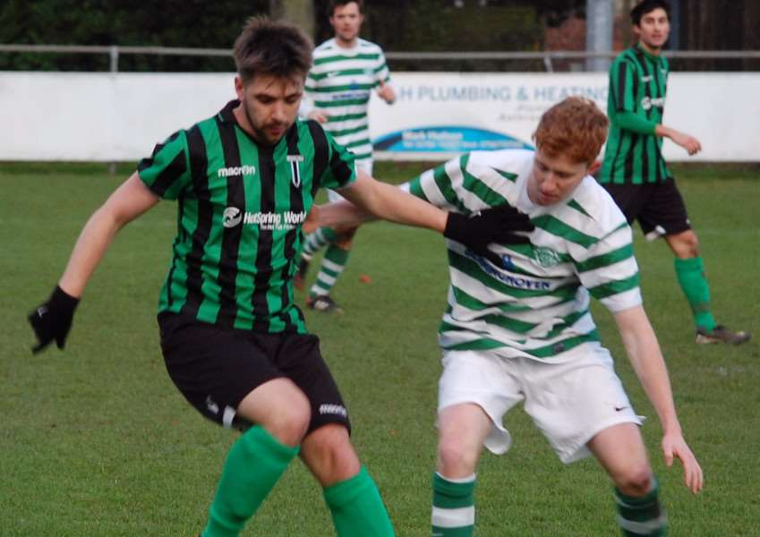 Action from Blackstones against Lutterworth Athletic. Photo: Martin Davies EMN-150912-161615001