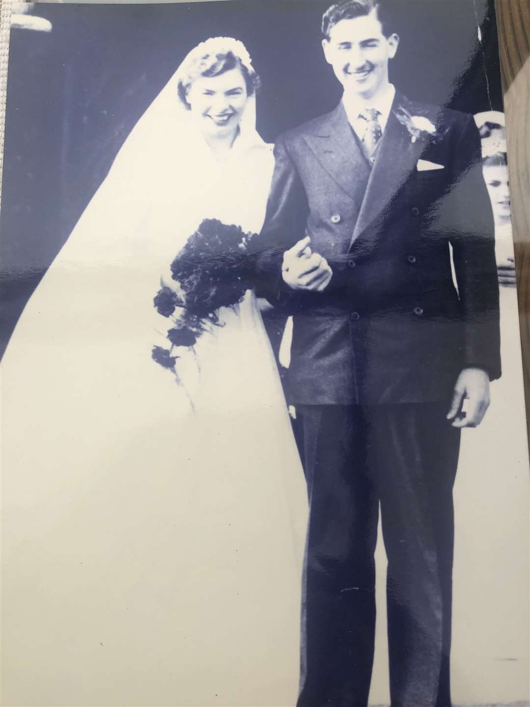 Roy and Joan on their wedding day at Glinton