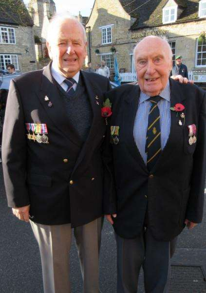 Brian Curtis and Mervyn Waters at the final parade of the Ryhall and District Branch of The Royal British Legion