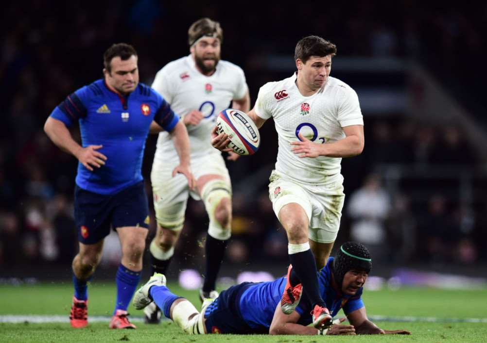 Ben Youngs crosses the try line on his best performance in an England shirt. Photo: Adam Davy/PA Wire EMN-150323-164017001