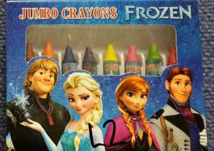 Frozen crayons found to be containing asbestos