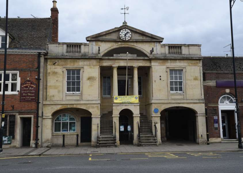 Interiors and exteriors of the Town Hall at Bourne EMN-151013-162015009