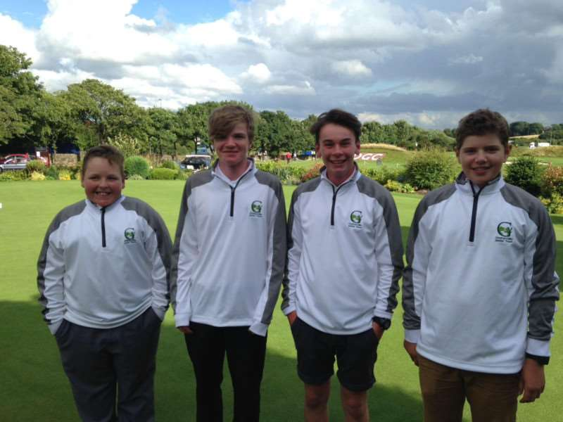 Greetham Valley golfers: Winston Childs, Cormac Calnan, Joe Sargood and Wilby Toothill