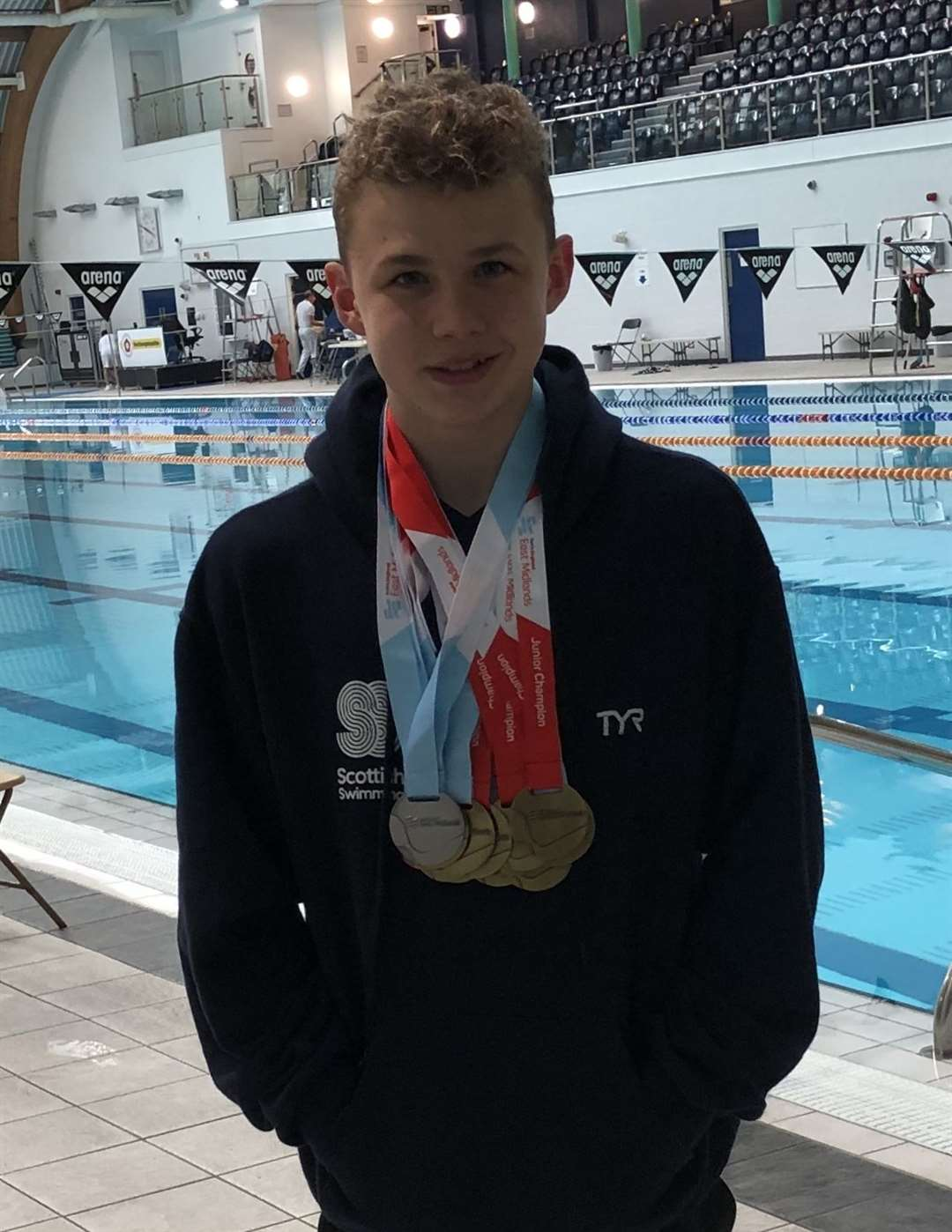 Callum Melville with his medals. (9472538)