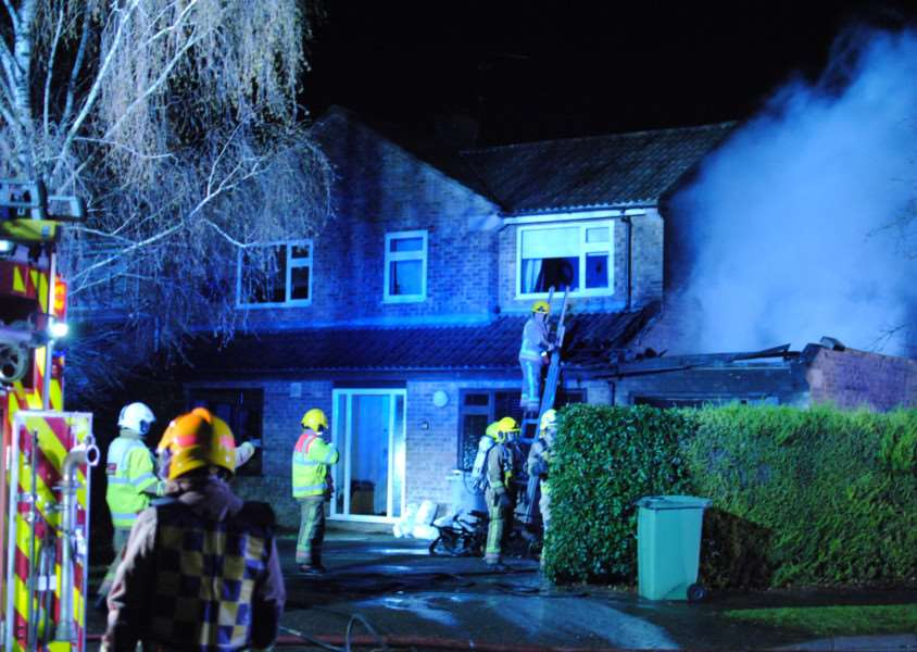 Fire in Arran Road, Stamford. Photo: Robert Ward EMN-151222-091944001