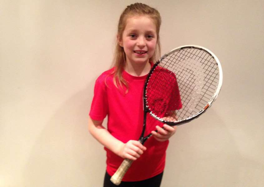 Grace Hornsby who won eight out of eight matches for Oakham Tennis Club's under 8 team. EMN-151222-152221001
