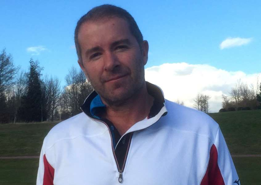 Chris Howe who hit a hole-in-one at Greetham Valley.