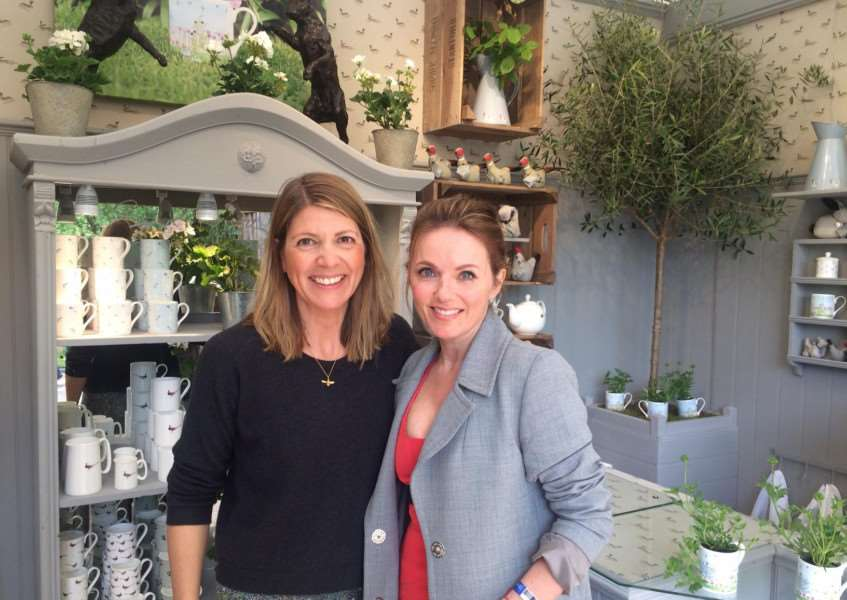 Sophie Allport with Geri Halliwell at the Chelsea Flower Show