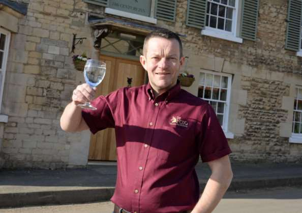 Jason Allen, landlord of the reopened Fox pub in North Luffenham. Photo: Alan Walters MSMP-10-03-15-aw013 EMN-151103-101411001