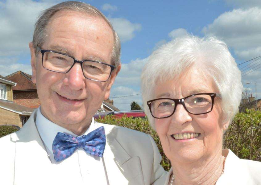 Diamond wedding couple Richard (85) and June (81) Callow of Deeping St James EMN-160419-163729009