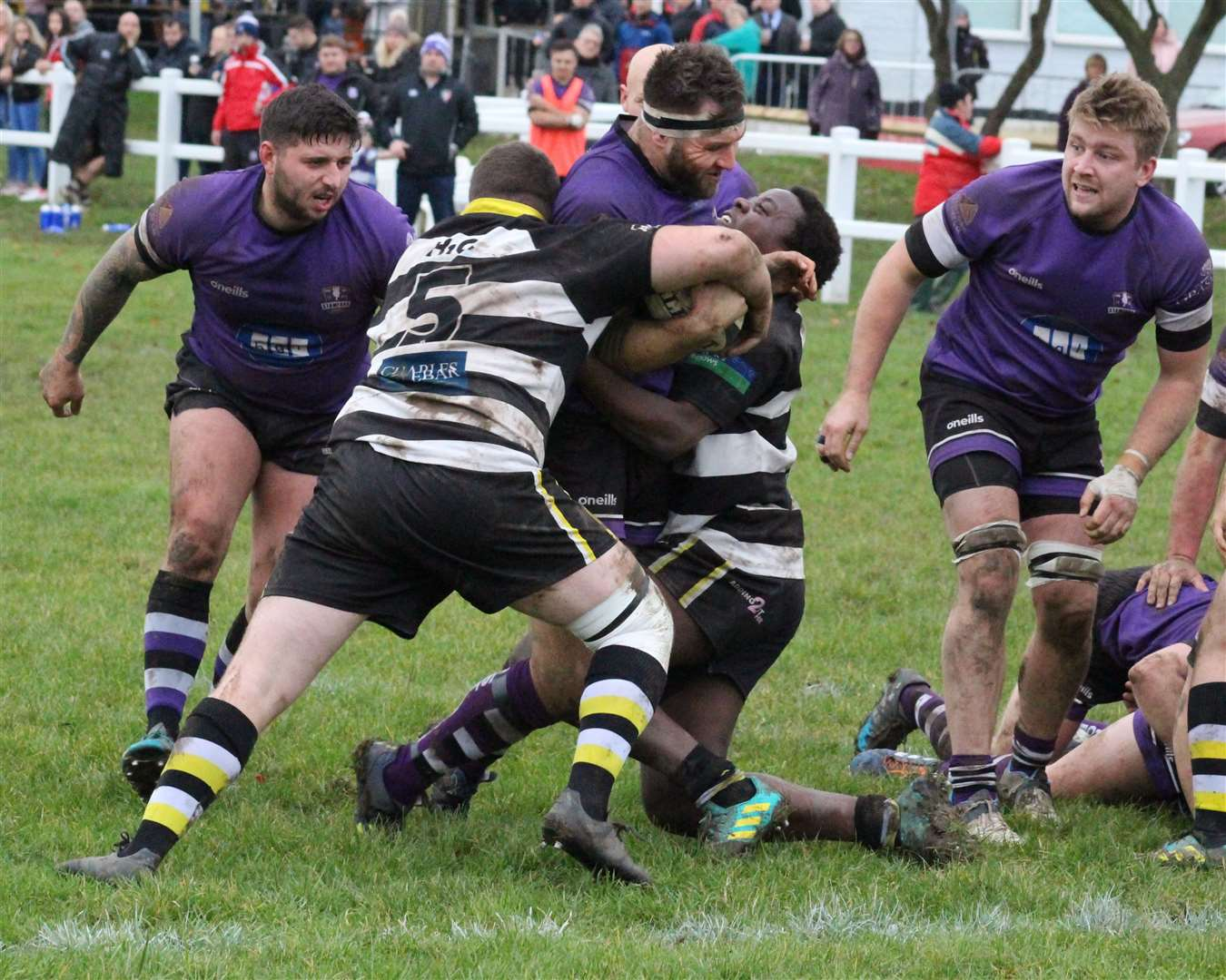Action from Stamford's victory at Rushden & Higham on Saturday. Photo: Darren Dolby (21889425)