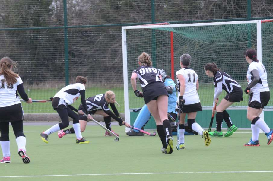 Hockey action from Bourne Deeping Dragons ladies v Leadenham at AMVC EMN-160901-192819009