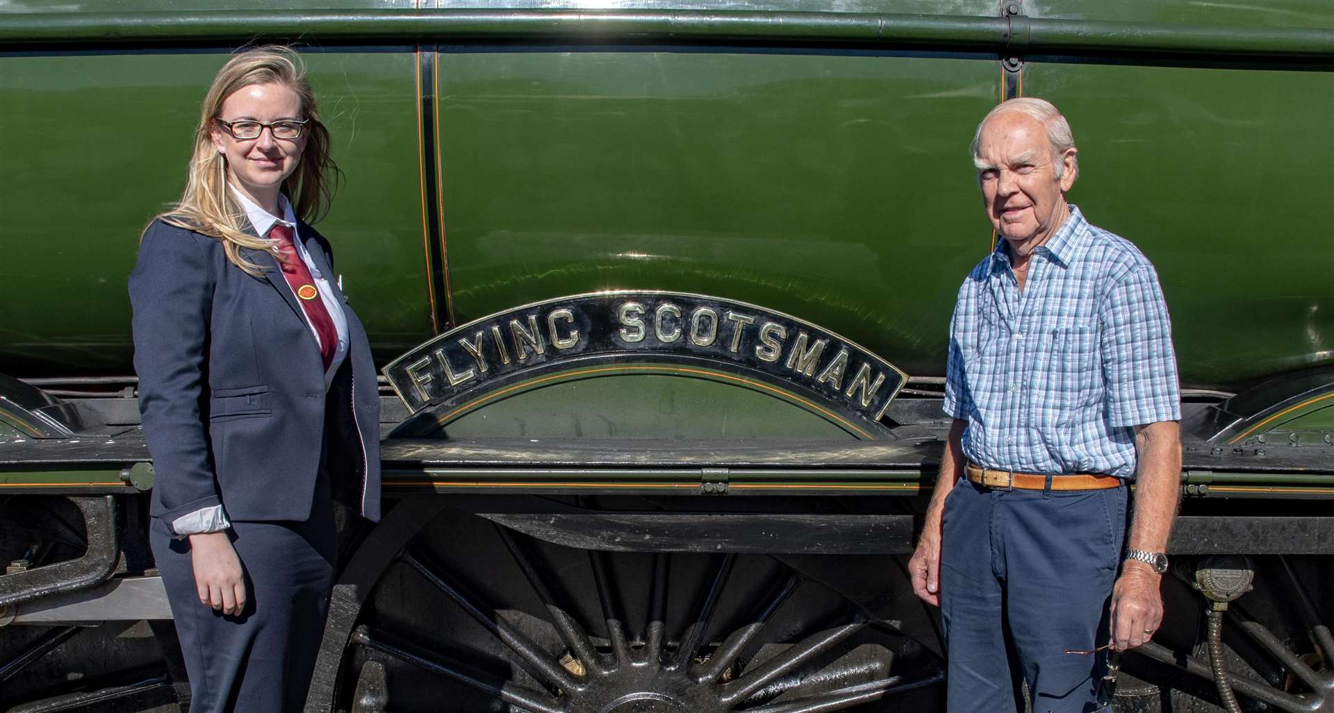 Nene Valley Railway's general manager Sarah Piggott with dad Patrick Photo: Lee Hellwing