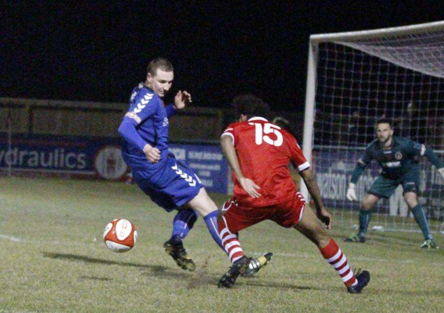 Stamford AFC lose 1-0 to Curzon Ashton. Photo: Geoff Atton EMN-150325-171413001