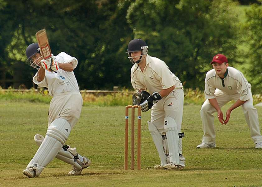 Whissendine wickie John Chell watches as Carrington's Tarel Naik hits it for six ENGEMN00220121206115457
