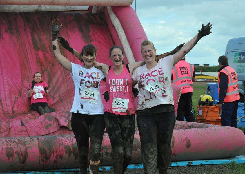 Pretty Muddy Race for Life event at East of England Showground EMN-150621-214639009