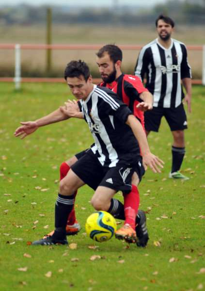 Langtoft United FC, Manor Park Sports Ground - first-half action v Pinchbeck United ANL-151024-184446001