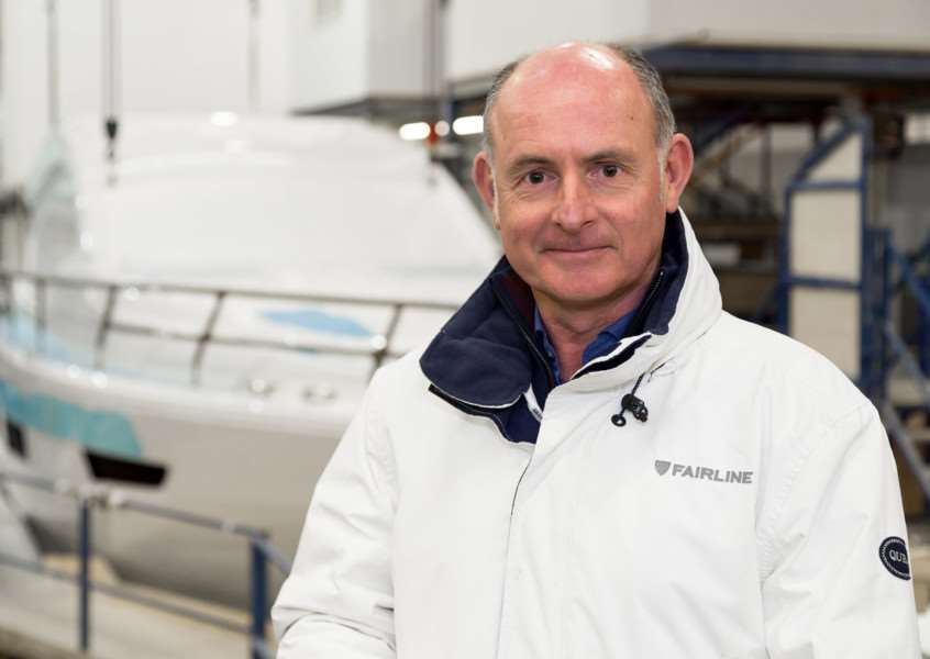 Russell Currie, managing director of Fairline Yachts, at the company's factory in Oundle.
