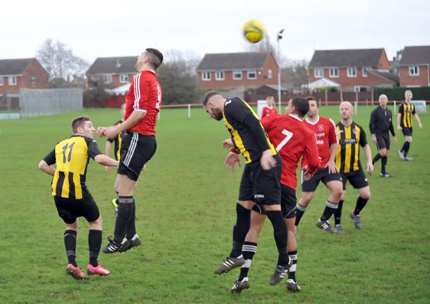 Action from Langtoft United v Holbeach United Reserves. Photo: David Pearson EMN-151221-094352001
