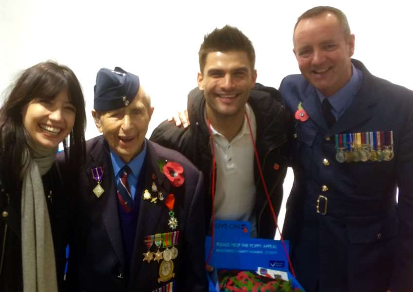 RAF Wittering personnel meet the stars of Strictly Come Dancing'Daisy Lowe, William Moore, Alja~ Skorjanec and WO Dave Scott EMN-160711-164831001