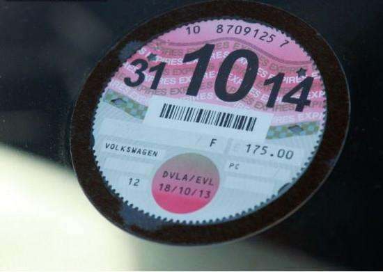 Tax disc warning