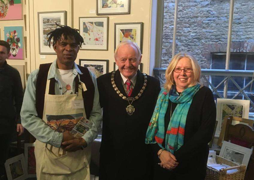 The Bourne Town Hall art exhibition which took place during the switch on of the town's lights. Submitted.