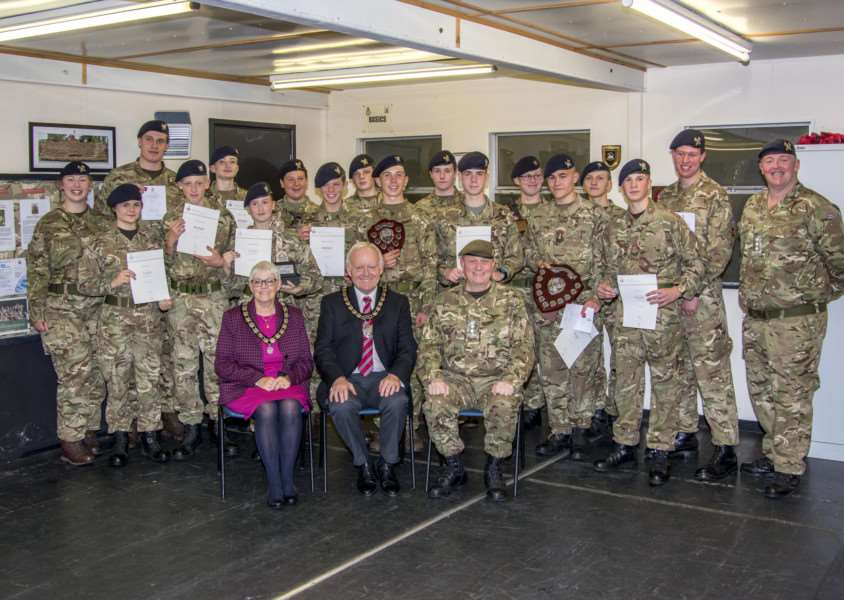 Bourne Army Cadets Duke of Ediburgh's Award presentation. By Lee Hellwing.