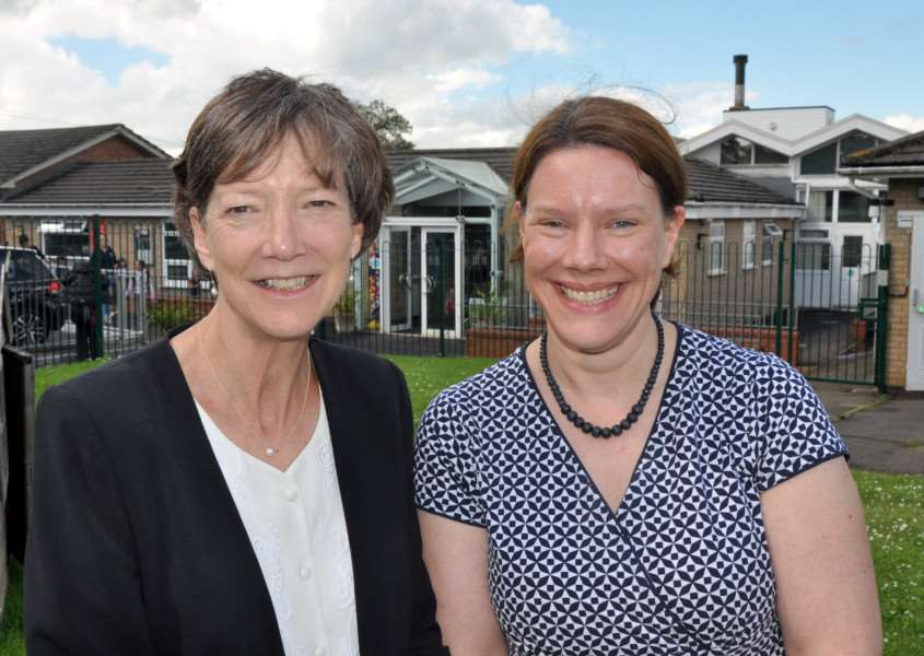 Uppingham Community College headteacher Jan Turner and Uppingham CE Primary headteacher Julia Exton EMN-160628-162252001
